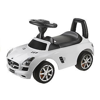 Mercedes Benz White - Kinderen duwen rijden op auto