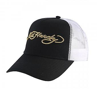 Ed Hardy Signature Black White Trucker Cap ED1305