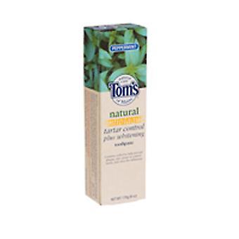 Tom's Maine Toms Of Maine Antiplaque ja valkaisun luonnollinen hammastahna, piparminttu 5,5 oz