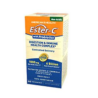 American Health Ester C with Probiotics Digestion & Immune Health Complex, 1000 mg, 60 VTabs