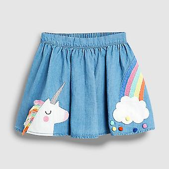 Summer Baby Clothes, Animal Rainbow Cotton Mini Skirts