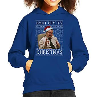 The Office UK David Brent Dont Cry Its Christmas Kid's Hooded Sweatshirt