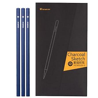 Drawing Pencil Set, Wooden Professional Art Supplies Hard/medium/soft Charcoal