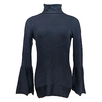 DG2 por Diane Gilman Women's Sweater Bell-Sleeve Turtleneck Blue 619-565