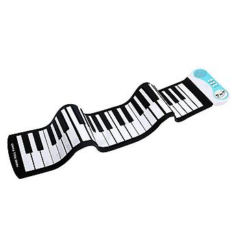 Digital Keyboard Piano, Portable Flexible Silicone Electronic Roll Up,