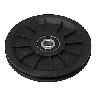 100x11mm Groove Bearing Pulley Cable Wheel For Gym Equipment Part Black