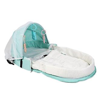 Portable Foldable Baby Travel Bed, Sun Protection Mosquito Net, Breathable