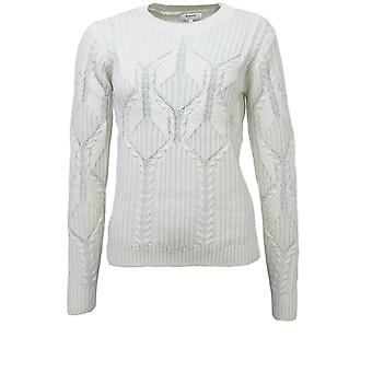 b.young Naja Cream Cable Knit Jumper