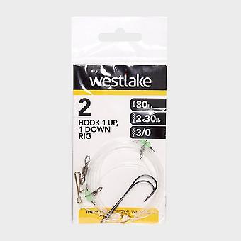 Νέα Westlake 2 Γάντζος 1Up 1Down Rig 3/0 Φυσικό