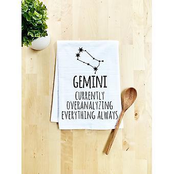 Gemini Zodiac Dish Towel
