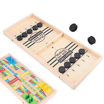 Fun Two-in-one Play Chess, Wooden Flying Chess, Children's Puzzle, Adult Leisure Decompression Game
