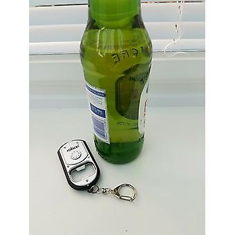 Rolson Bottle Opener Key Ring with One Super Bright LED And On / Off Button