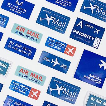 Par Avion Vintage Stickers in a box Approx 45 -  Crafts / Scrapbooking