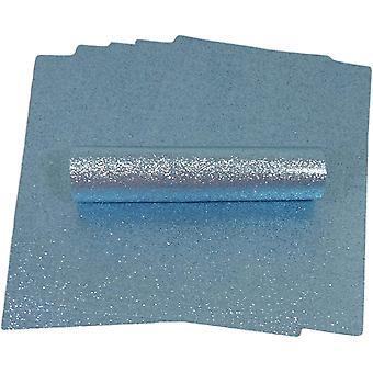 A4 شاحب الأزرق بريق ورقة لينة اللمس غير سقيفة 150gsm حزمة من 10 ورقة