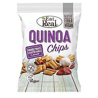 Eet echte zongedroogde tomaat en knoflook Quinoa Chips 80g x10