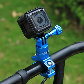 [UAE Warehouse] PULUZ 360 Degree Rotation Bike Aluminum Handlebar Adapter Mount with Screw for GoPro HERO9 Black /8 Black / Max / HERO7, DJI OSMO Acti