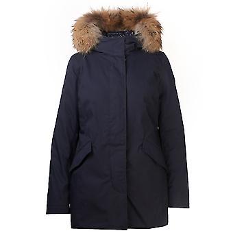 Woolrich Wwou0258frut19743989 Women's Blue Cotton Outerwear Jacket