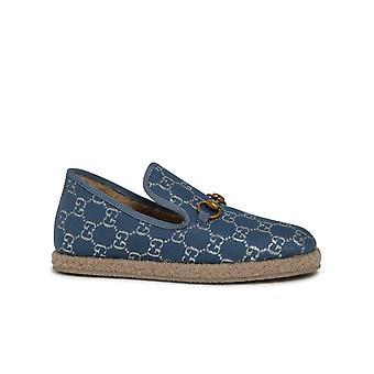 Gucci 5758502c8404693 Damen's Blaue Wolle Slip Auf Sneakers