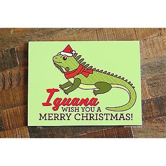 Iguana Pun Christmas Card