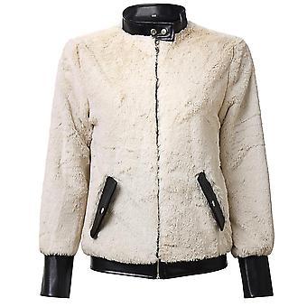 Winter Mixed Rabbit Fur Coat Women Warm Zipper Jacket New Female Casual
