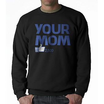 Humor Your Mom Men's Black Sweatshirt