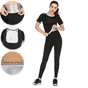 Women's Fitness Yoga Running Sweating Suits, Shaping Slimming Flexible Elastic