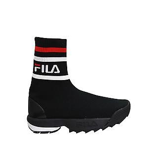 Fila Disruptor Logo Sockboot Slip På Womens Trainers Black Textile 1010612 12V