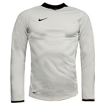 Nike Dri-Fit Mens Football Top Long Sleeved Soccer Shirt White 269387 100 A11C
