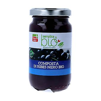 Simple & organic blackcurrant compote 220 g