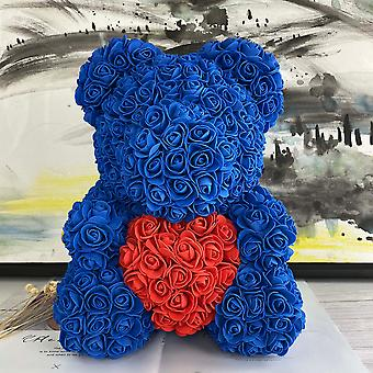 Teddy Rose Bear Artificial Flower Bear Christmas Decoration For Home Valentines