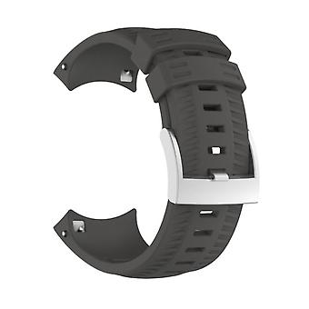 Bracelet de montre de remplacement en silicone pour SUUNTO 9 Grey