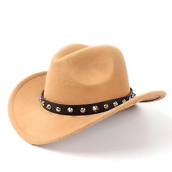 Villa huopa Western Cowboy Hattu roll-up leveä brim herrasmies lady jazz cowgirl