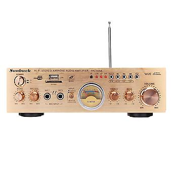 Sunbuck TAV-505A 600W סטריאו VU מטר 2 ערוץ 4 אוהם כוח מגבר תמיכה FM USB SD עם מרחוק