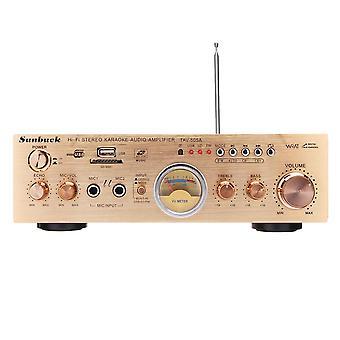 Sunbuck TAV-505A 600W Stereo VU Meter 2 Channel 4 ohm Power Amplificateur Support FM USB SD avec télécommande
