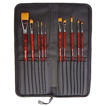Major Brushes Acrylic Brush, Artist's Choice Superior (Set of 10)