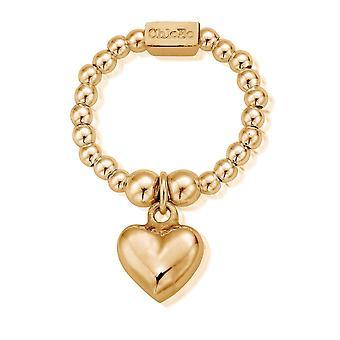 ChloBo Mini Puffed Heart Ring