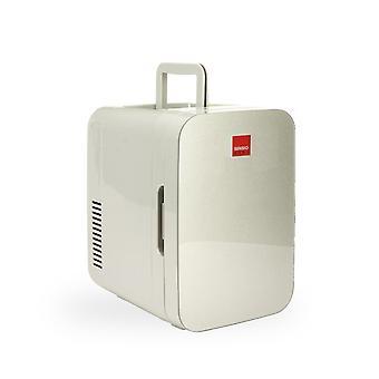 Sensio Home 10L Mini Fridge Cooler & Warmer | AC+DC Power - 12v, UK & EU Plug | Compact, Portable and Quiet (Silver)