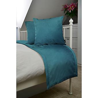 Matt teal velvet bedding set