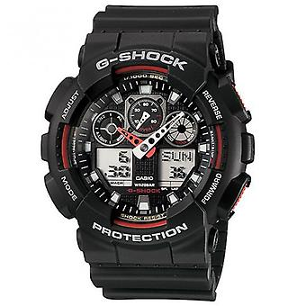 G-Shock Ga-100-1a4er Analogue & Digital Black Rubber Watch