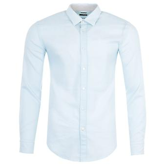 BOSS Ronni Stretch Linen Slim Fit Shirt - Pastel Blue