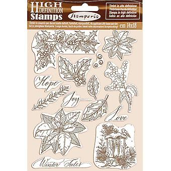 Stamperia Naturstempel Stempel Poinsettia
