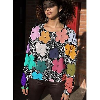 Fake flower sublimation sweatshirt