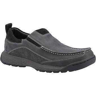 Hush Puppies Mens Duncan Slip On Leather Shoes