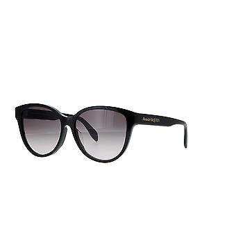 Alexander Mcqueen Asian Fit AM0303SK 001 Schwarz/Grau Farbverlauf Sonnenbrille