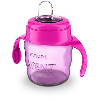Avent Infantile Glass with Pink Soft Mouthpiece 200 ml