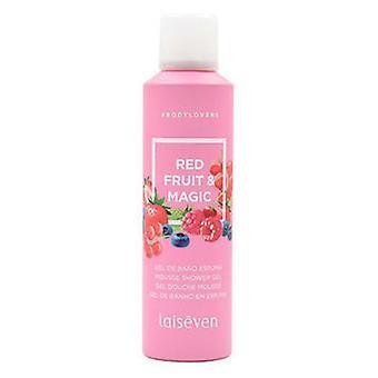 Laiseven Schäumendes Badegel für Körperliebhaber Red Fruit 200 ml