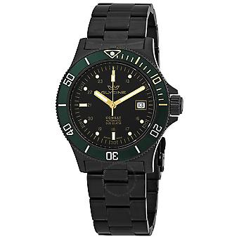 Glycine Combat Automatic Black Dial Black PVD Men's Watch GL0273