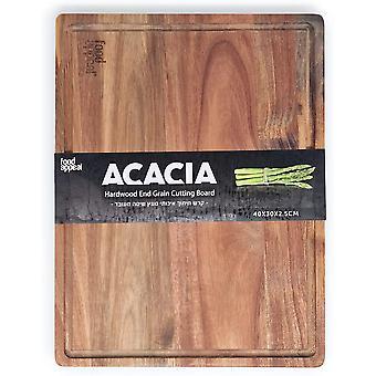 tabla de corte de madera de la acacia   40x30x2.5cm   ingestión de patrones nobles con   de madera tablero de madera antiséptico con   Cocina bret