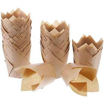 200 festsitzen Tulpenfrmchen fr Cupcakes, natrliches Backpapier, fettdicht, fr Hochzeit, Geburtstag,