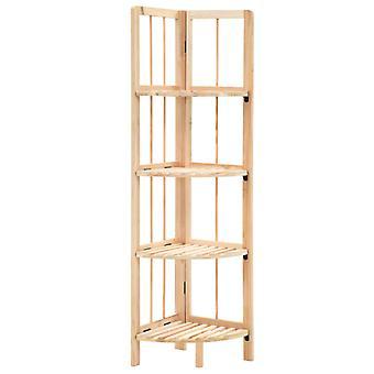 vidaXL corner shelf cedar wood 27x27x110 cm
